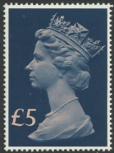 SG1028 1977-87 £5 Tall Format (Decimal Machin High Value Stamps)
